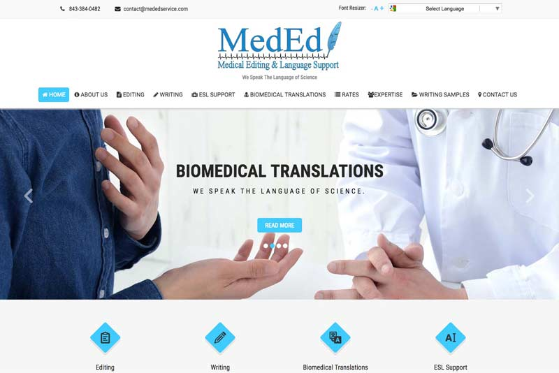 Medical Editing and Language Support