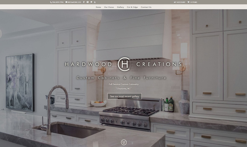eCommerce Web Design Project: Hardwood Creations, Inc.